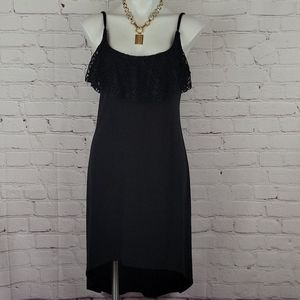 Miken Black High low  Swimsuit cover-up Size L